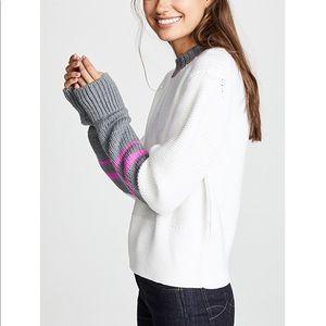 Jason Wu Grey Colorblock Crew Neck Sweater